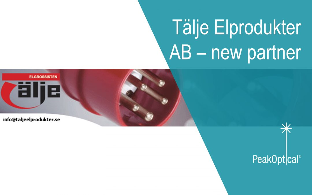 Tälje Elprodukter AB – new partner to service Swedish customers