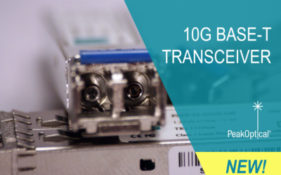 New product made by PeakOptical – 10G BASE-T Transceivers