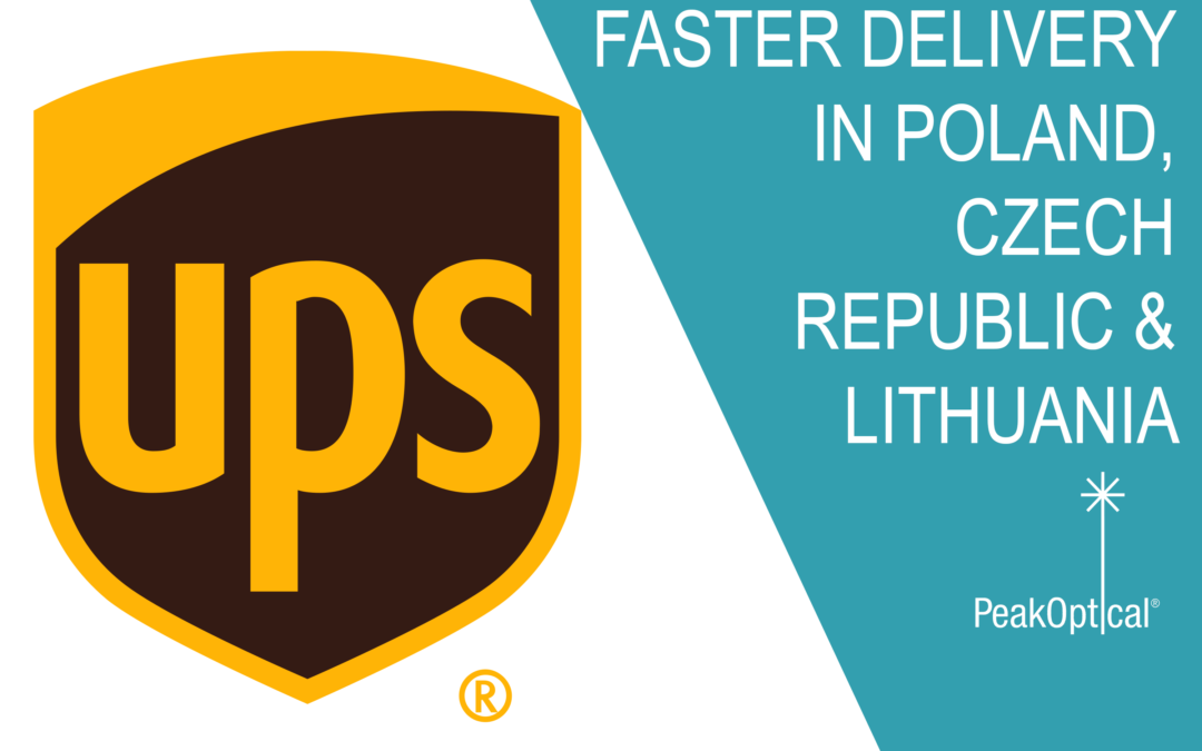 Faster delivery of PeakOptical's products in Poland, Czech Republic, and Lithuania with UPS!