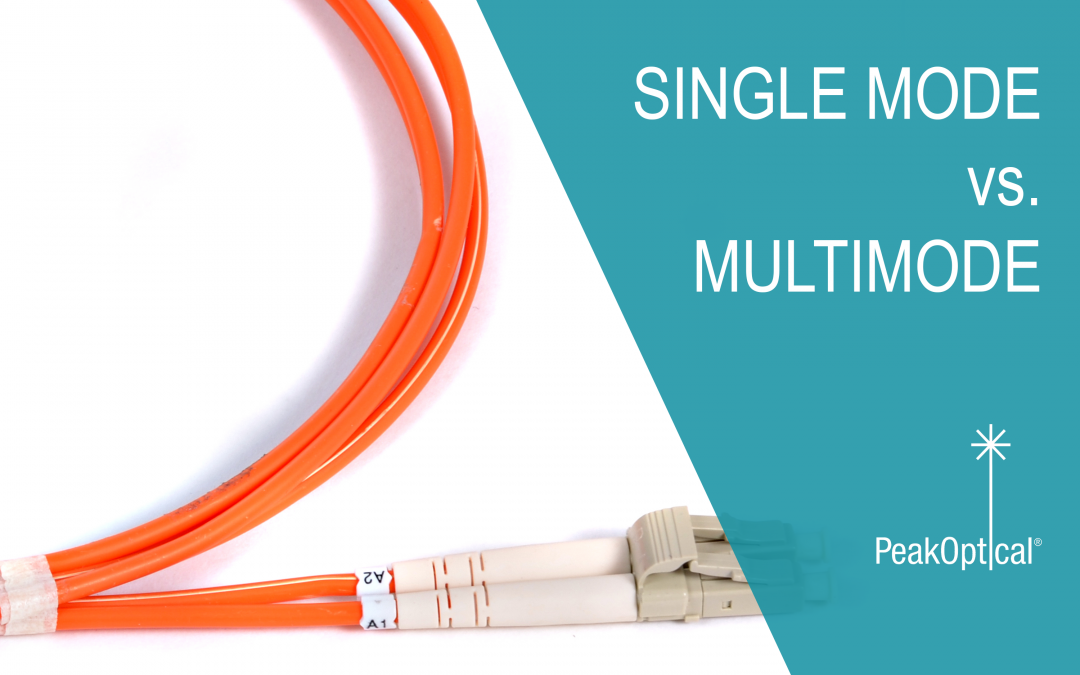 Single mode vs  Multimode fiber optic cables - PeakOptical A/S