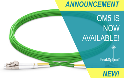 PeakOptical A/S launches OM5 multimode fiber optic cable