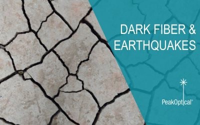 Earthquakes and dark fiber – Can dark fiber anticipate earthquakes?