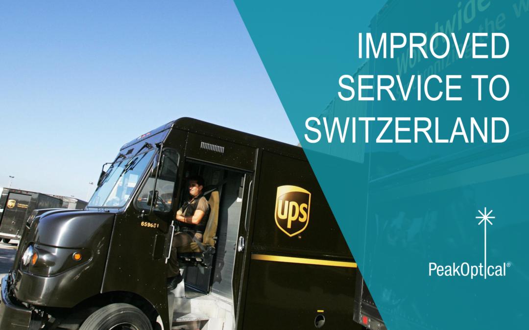Improved service to Switzerland