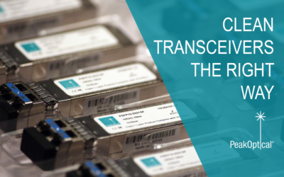 How to clean fiber optic transceivers the right way